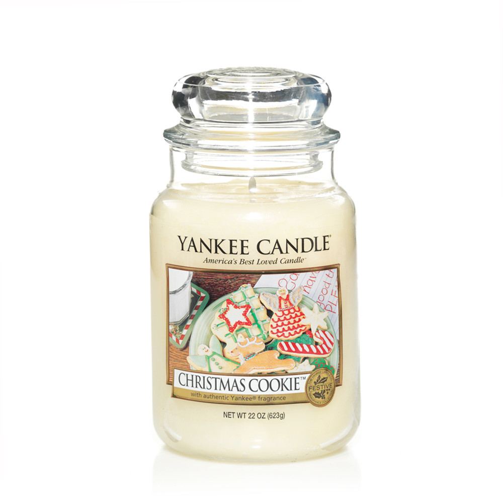 yankee candle christmas cookie large jar candle and gift. Black Bedroom Furniture Sets. Home Design Ideas